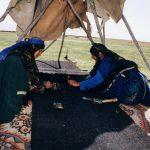 سیاه چادر شاهسونی|بافت سیاه چادر