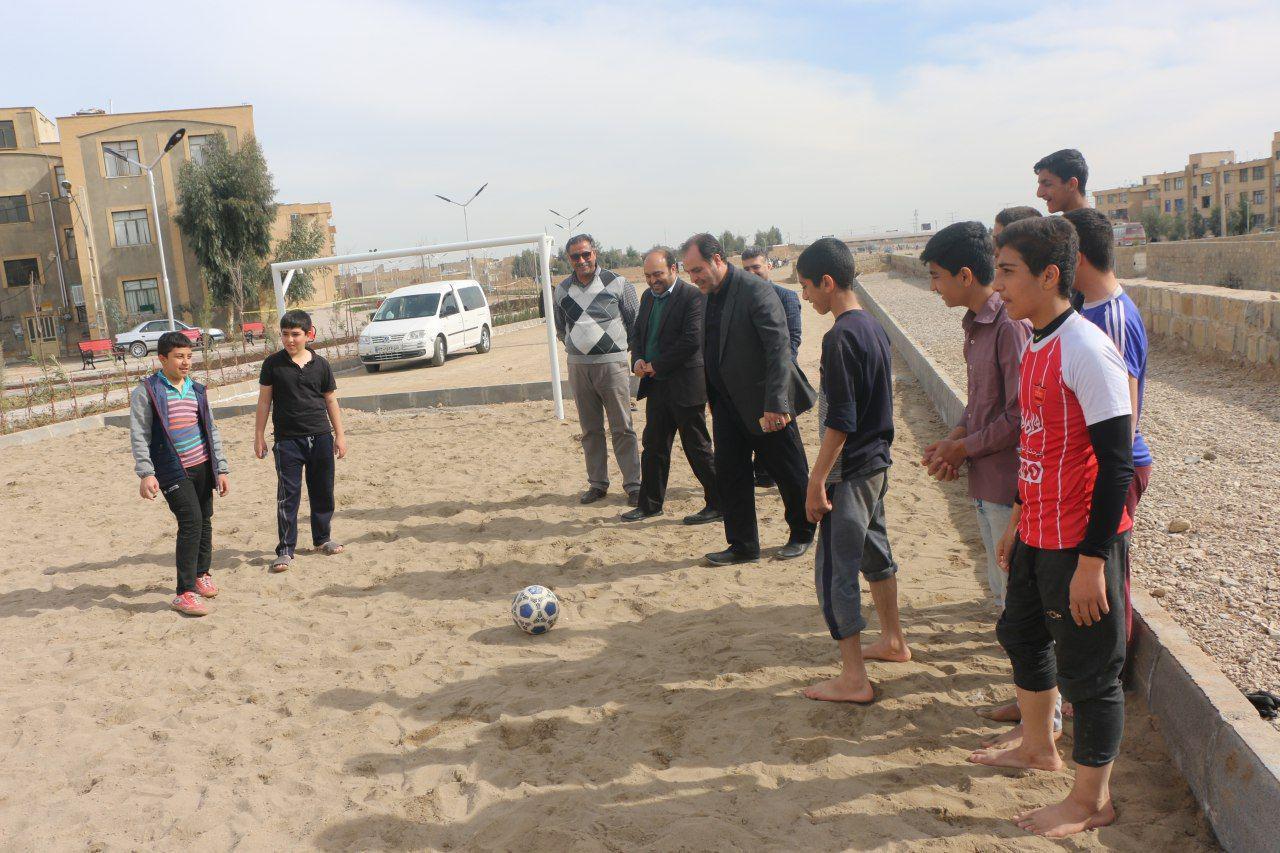 احداث زمین های بازی فوتبال ساحلی در ساوه