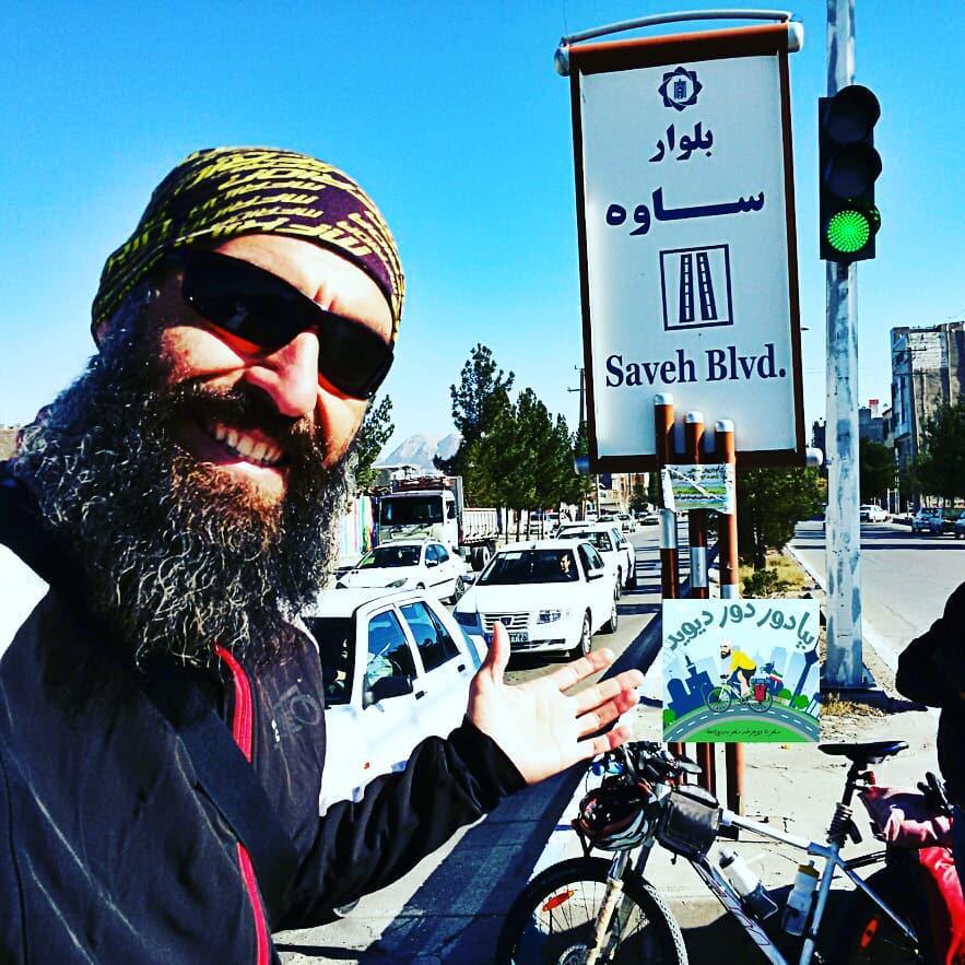 دوچرخه سوار ساوه ای در شبکه خبرسیمای خاوران