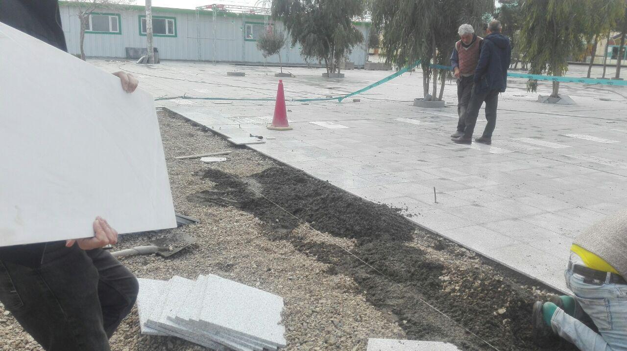 زیباسازی محوطه امامزاده سید اسحاق (ع) با هزینه ای بالغ بر ۴۰۰میلیون +نارضایتی مردم ساوه