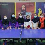 نتایج مسابقات انتخابی تنیس روی میز رده سنی نوجوانانِ بانوان شهرستان ساوه
